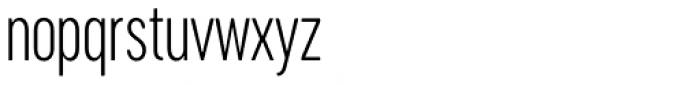 Cervino Light Condensed Font LOWERCASE