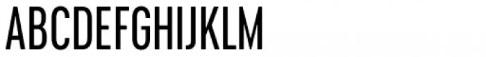 Cervino Medium Condensed Font UPPERCASE