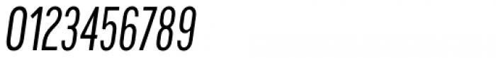 Cervino Regular Condensed Italic Font OTHER CHARS