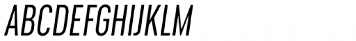Cervino Regular Condensed Italic Font UPPERCASE