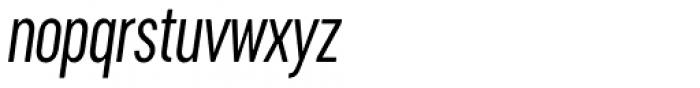 Cervino Regular Condensed Italic Font LOWERCASE