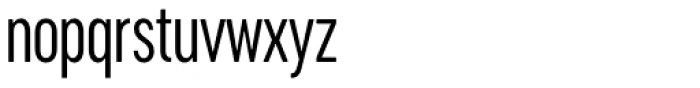 Cervino Regular Condensed Font LOWERCASE