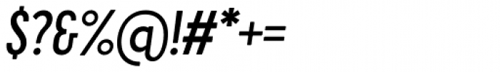 Cervino Semi Bold Condensed Italic Font OTHER CHARS