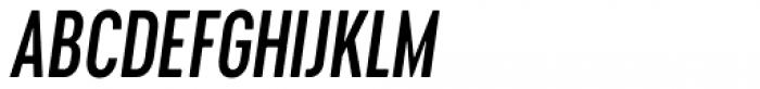 Cervino Semi Bold Condensed Italic Font UPPERCASE