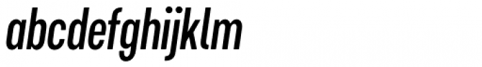 Cervino Semi Bold Condensed Italic Font LOWERCASE