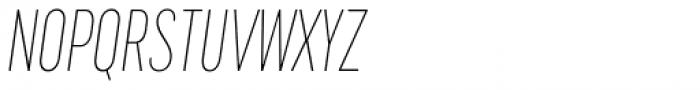 Cervino Thin Condensed Italic Font UPPERCASE