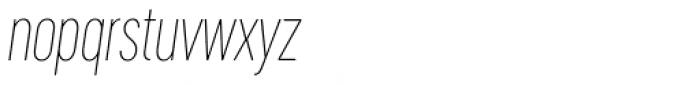 Cervino Thin Condensed Italic Font LOWERCASE
