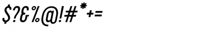 Cervo Italic Font OTHER CHARS