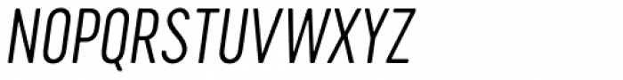 Cervo Neue Extra Light Italic Font UPPERCASE