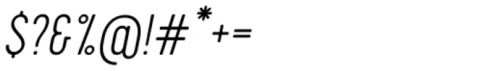 Cervo Thin Italic Font OTHER CHARS