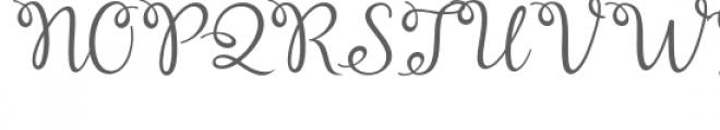 Cealisha Font UPPERCASE