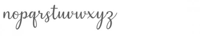 Cealisha Font LOWERCASE