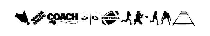212 Football Dings Font OTHER CHARS