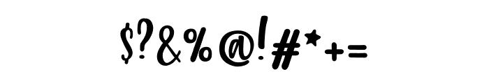 212 Phoenix Wild Script Font OTHER CHARS