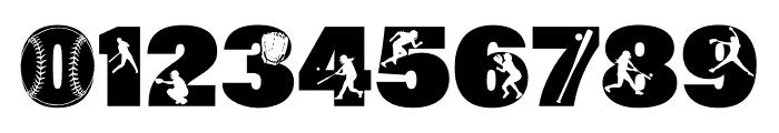 212 Softball Font OTHER CHARS
