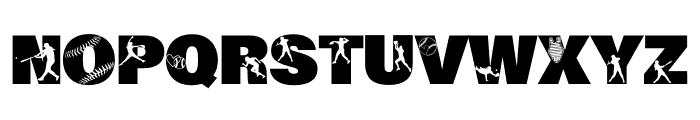 212 Softball Font UPPERCASE