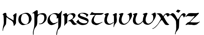 750LatinUncialNormal Font LOWERCASE