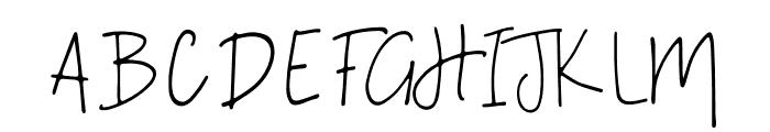 A Bientot Font UPPERCASE