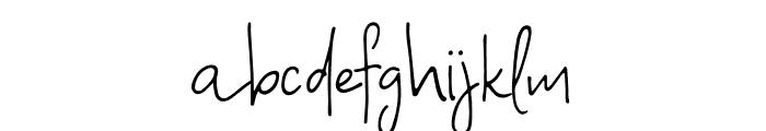 A Bientot Font LOWERCASE
