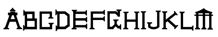 A CITY MODEL Font UPPERCASE