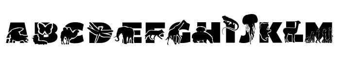 ABC Animals Font UPPERCASE
