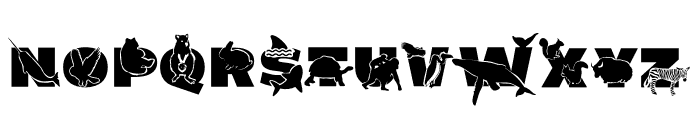 ABC Animals Font LOWERCASE