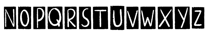 ALTERNATIVE ROCK Border Font UPPERCASE