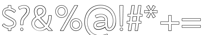 AMERICAOUTLINE Font OTHER CHARS