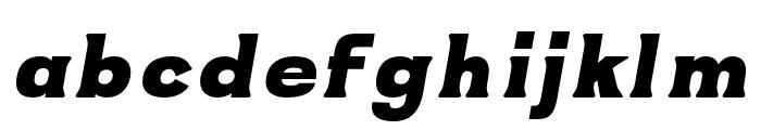 ATOMIC regular-italic Font LOWERCASE