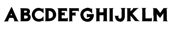 AZBarista-Regular Font UPPERCASE