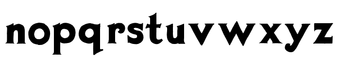 AZBarista-Regular Font LOWERCASE