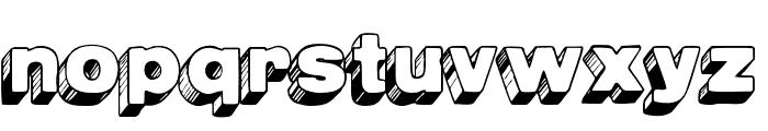 AZPostcard3D Font LOWERCASE