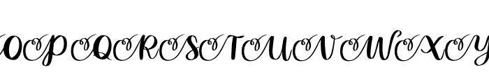 Abrianna Font UPPERCASE
