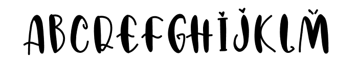 AbriannaSweetie Font UPPERCASE