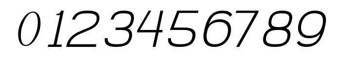 AbroSans-ExtraLightItalic Font OTHER CHARS