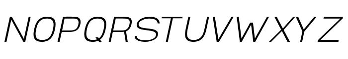 AbroSans-ExtraLightItalic Font UPPERCASE