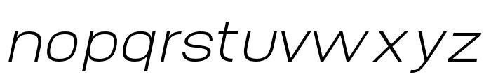 AbroSans-ExtraLightItalic Font LOWERCASE