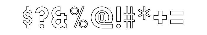 Absender Outline Font OTHER CHARS