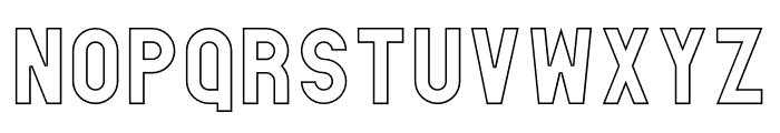 Absender Outline Font UPPERCASE