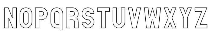 Absender Outline Font LOWERCASE