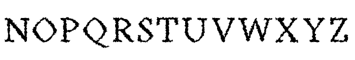 Achazia-Distorted Font UPPERCASE
