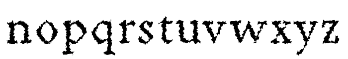Achazia-Distorted Font LOWERCASE