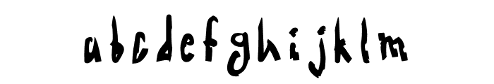 Acid Radio Bold Font LOWERCASE