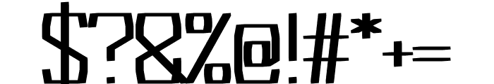 Acrylic regular Font OTHER CHARS