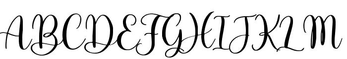Adinda Sayang Font UPPERCASE