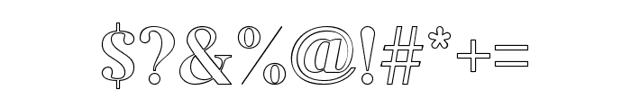Adiwangsa-Outline Font OTHER CHARS