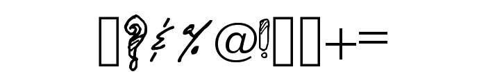 Adorable Quiling Regular Font OTHER CHARS