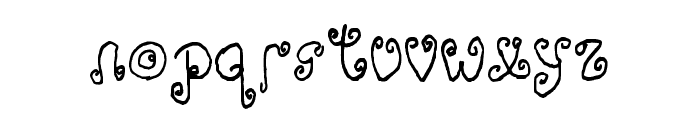Adorable Quiling Regular Font LOWERCASE