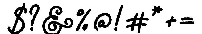 Adventure Island ScriptBoldRough Font OTHER CHARS