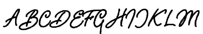 Adventure Island ScriptBoldRough Font UPPERCASE